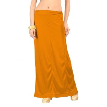 Ziya Yellow Satin Pure Petticoat