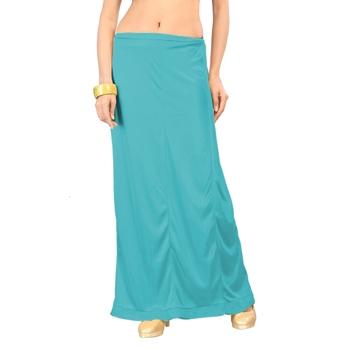 Ziya Turquoise Pure Satin Petticoat