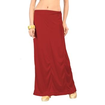 Ziya Red Pure Satin Petticoat