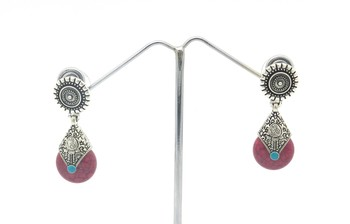 Pink Color Small Size Antique Style Earring