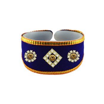 Blue Color Kundun Stud Acrylic Bracelet