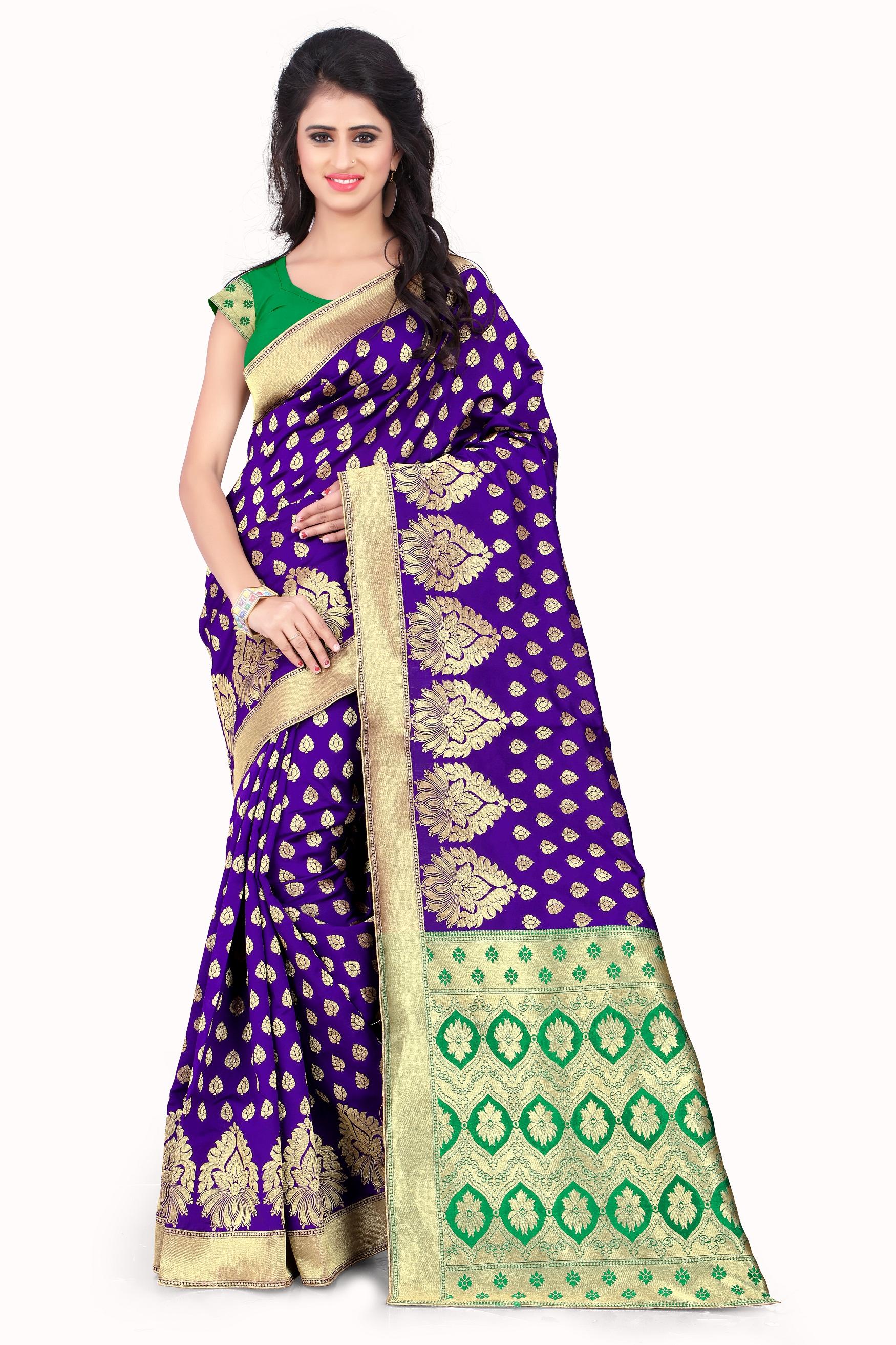 Purple Colour Sarees Buy Saree Online Best Prices Kemeja Lavender Multicolor Shop At Velvet