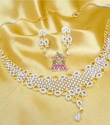 Buy Beautiful Diamond Look Necklace Set  necklace-set online