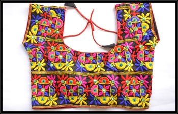 Multicolor Kutch Embroidered Traditional designer Blouse