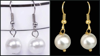 Combo of two Pearly Silver and Pearly Golden Earrings