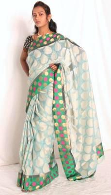Designer supernet chanderi fancy pallu saree