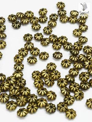 Floral Antique Golden beads (500 + 100 pcs)