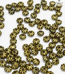 Buy Floral Antique Golden beads (500 + 100 pcs) stationery online