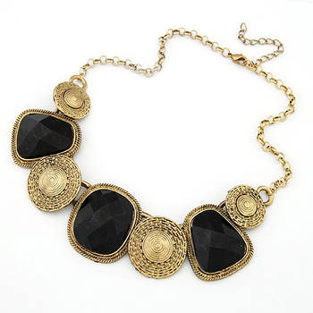 Black Antique Gold Plating Nacklace(CFN0154)