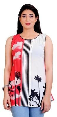 Coral Georgette printed tops