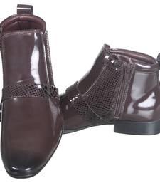 Buy Brown Macho Boots men-shoe online