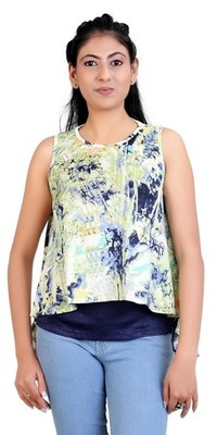 Pista stretchable lycra fabric printed  top