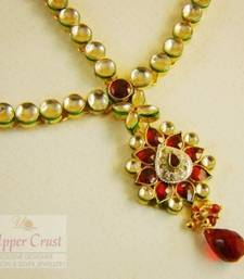 Kundan Bridal Red Matha Patti Maang Tikka