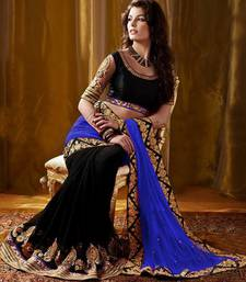 Buy Blue heavy-work-saree online