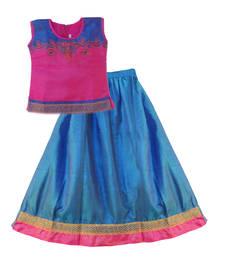 Blue Poly Silk readymade lehenga cholis