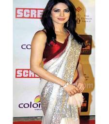 Buy PC Indian traditional bollywood saree, designer saree, party wear saree, facny saree. priyanka-chopra-saree online