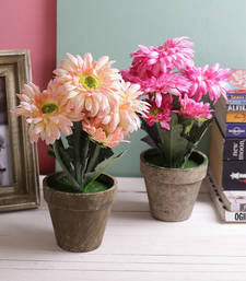 Set of 2 Hearttaking Pink & Peach 29.5 CM High  Artificial Floral Plants
