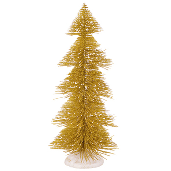 Charming Golden Decorative Christmas Tree