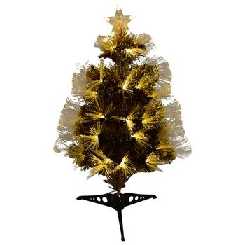 Glowing Golden Decorative Christmas Tree