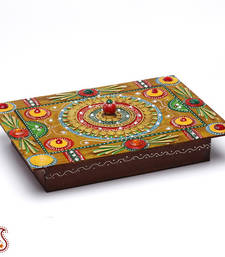 Buy Wood and Clay Handmade Traditional Jewelry cum utility Box other-home-accessory online