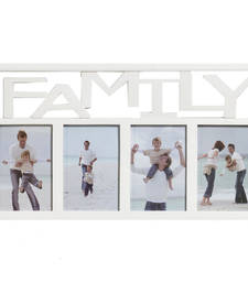 Creative White Collage Photo Frame for Family