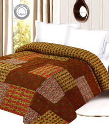 Buy Soothing & Comfortable Multicolor Printed Double Bed Quilt quilt online