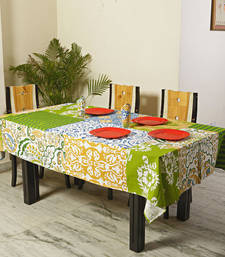 Buy Patchwork Design Pigment Print Cotton Table Cover with 06 Napkins table-cloth online