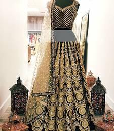 Buy Black georgette embroidered Lehenga Choli women-ethnic-wear online