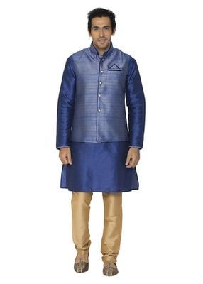 Blue Dupion Silk Kurta Pajama