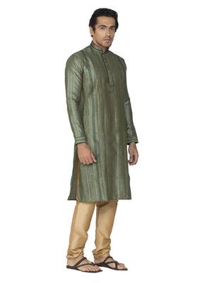 Green Jaquard Kurta Pajama