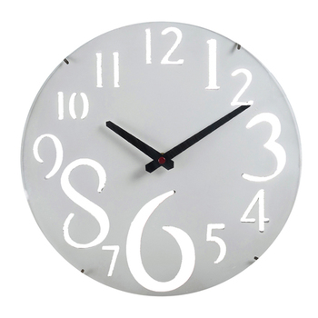 White Beautiful Huge Numeral Wall Clock