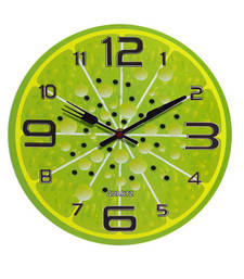 Buy Green Stylish Round Analog Wall Clock wall-clock online
