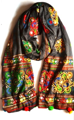 Black  cotton stole and dupattas