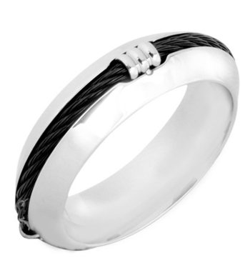 Black silver plated rings