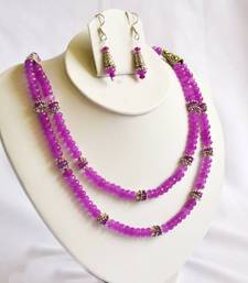 Buy Purple Beads Two Layer Necklace Set necklace-set online