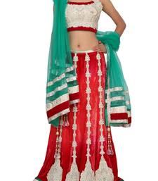 Buy RAAS VELVET Red, Green Chaniya Choli velvet-saree online