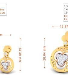 Buy 0.112ct Diamond Precious gemstone-earrings gemstone-earring online