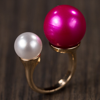 Pink Alloy Stone Rings