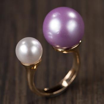 Purple Alloy Stone Rings