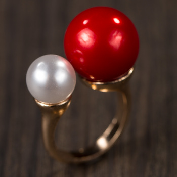 Red Alloy Stone Rings