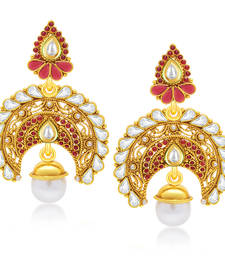 Buy Enchanting Gold Plated Chandbali Earring For Women danglers-drop online
