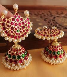 Buy Royal Huge Real Kemp Temple Jhumkka  jhumka online