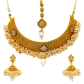 Multicolor Pearl Necklace Sets