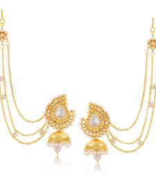 Ethnic Gold Plated Jhumki Earring For Women