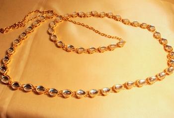 kundan gold plated waist belt