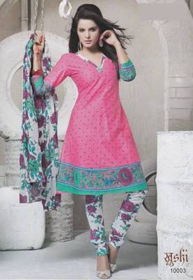 Dress Material Cotton Designer Prints Unstitched Salwar Kameez Suit D.No 10003