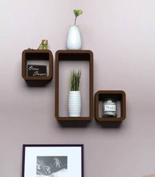 Buy MDF Cube Shape Floating Wall Shelves Set of 3 wall-decal online