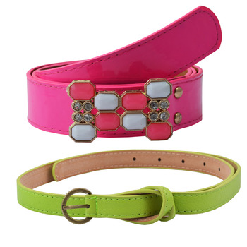 """ Green And Pink"" Belt Combo For Womens"
