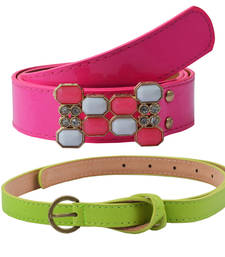 """"""" Green and Pink"""" Belt Combo For Womens"""
