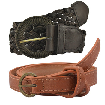 """ Black And Brown Color"" Belt Combo For Womens"